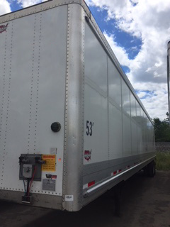 53-Foot Wabash Dry Van Trailers for Sale